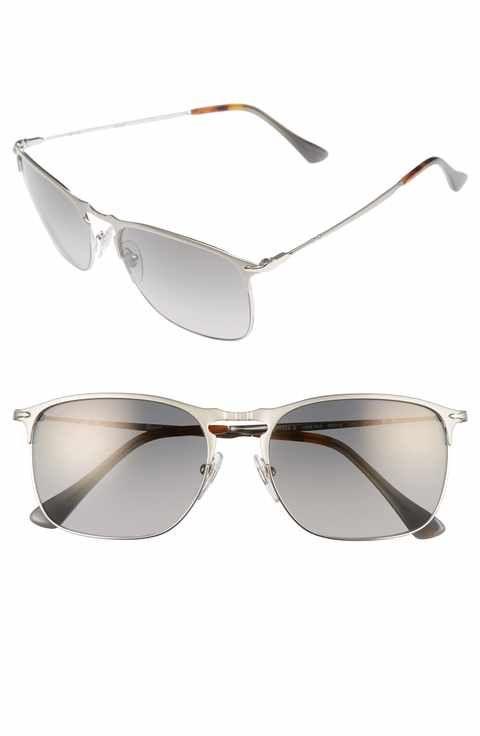 Persol Evolution 58mm Polarized Aviator Sunglasses