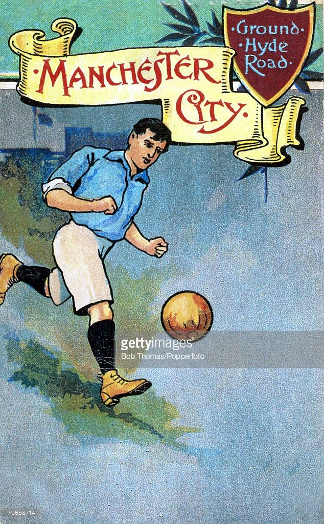 Sport Football Colour illustration pic circa 1910 Manchester City postcard…
