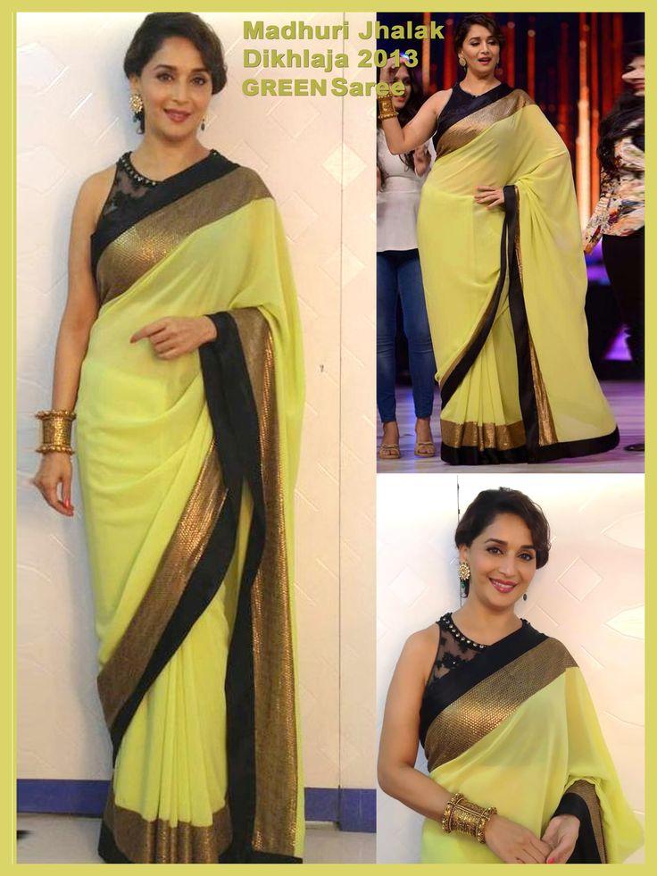 Blog - Madhuri Dixit Green Saree