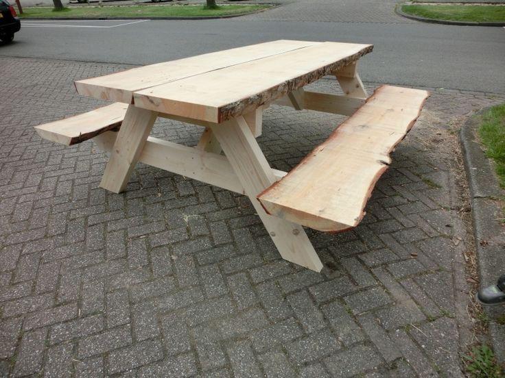 Stam-picknick tafel | PICKNICKTAFELS | StoereTafels.com, massief eiken tafels en meer