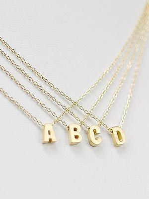 letter perfect gift idea initial necklaces initials style news and initial charm necklaces