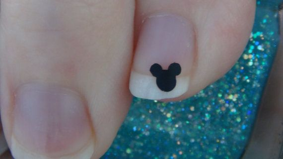 Mickey Mouse Size MINI Inspired Nail Art Decals Set of 50 Vinyl Stickers Applique Manicure Pedicure Party Event Accessories on Etsy, $4.99