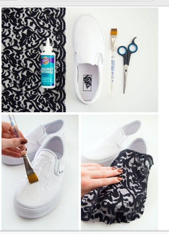 DIY Lace Slip-on Vans Sneakers #Musely #Tip
