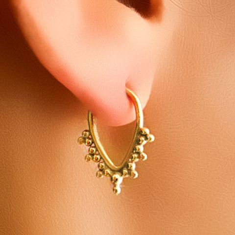 mooie vergulde kraakbeen oorbellen van Ronibiza - tribal sieraden op DaWanda.com