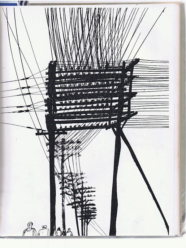 Paul Hogarth (All those wires in the sky - most people don't see them. Hogarth does; so does Robert McCrum. Even in this 'digital age', they're everywhere...)