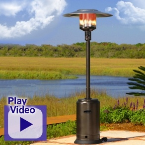 This Fire Sense Hammer Tone Bronze Propane Patio Heater With Auto Shut Off  Tilt Valve Gives