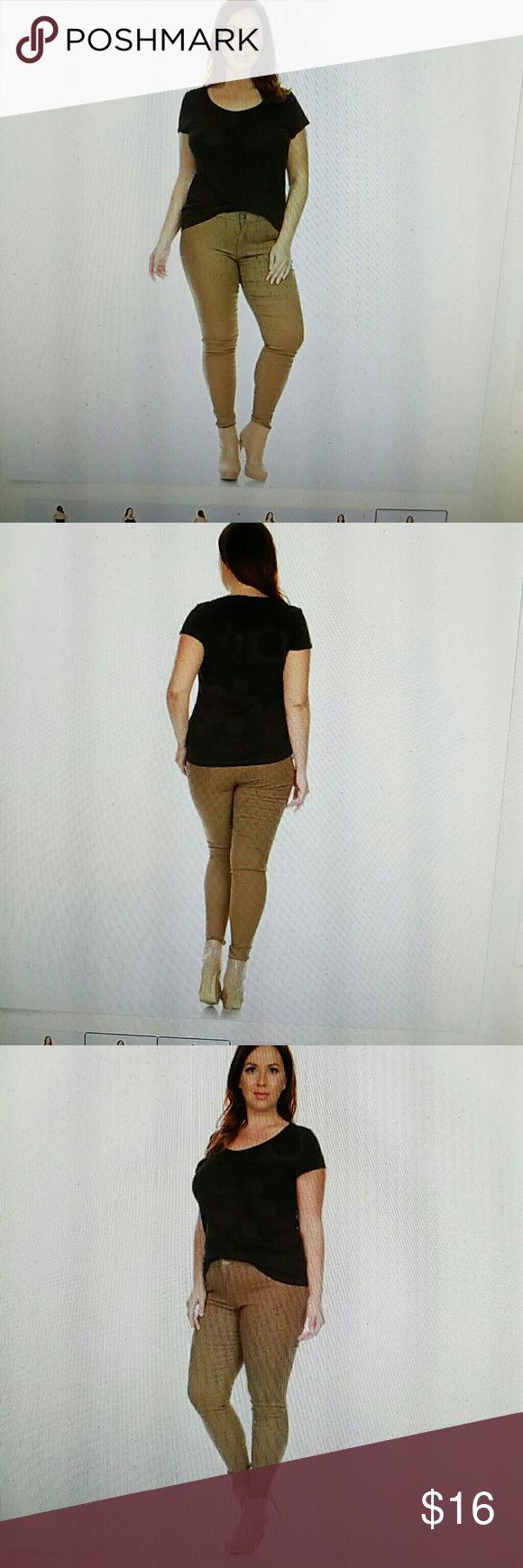 Plus Size Caramel Brown Skinny Jeans 1x 2x 3x 4x Hot, new sexy plus size high waist moleton skinny jeans Nema Avenue Jeans Skinny