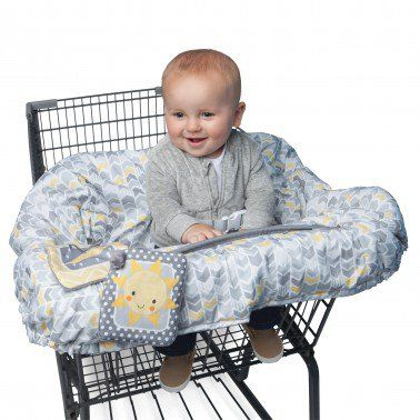 The Boppy Shopping Cart Cover is here to protect your child while he or she is riding in one of those shopping carts.