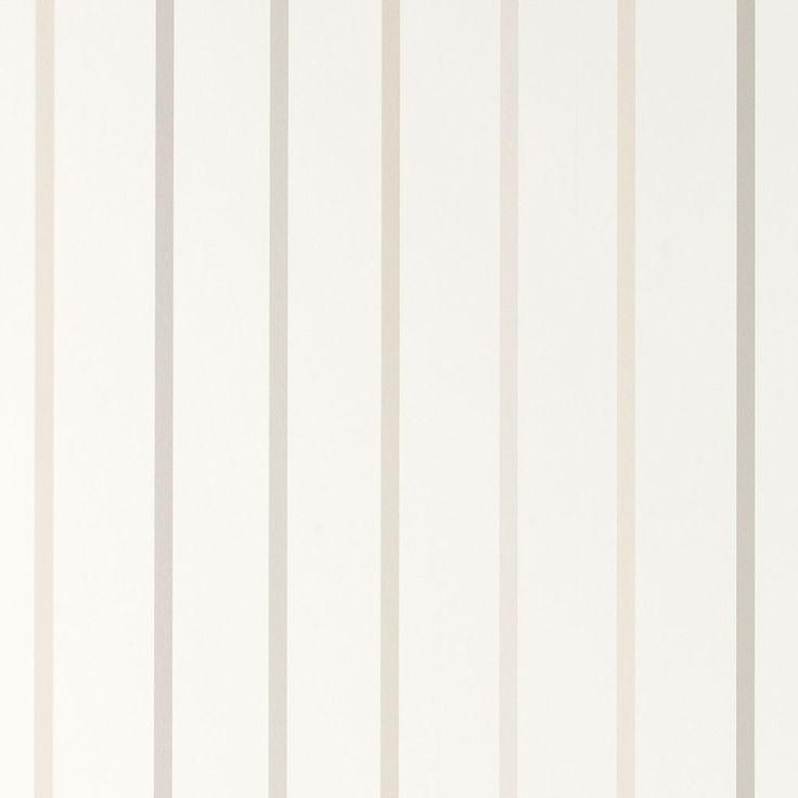 Laura Ashley Draycott Off White Stripe Wallpaper