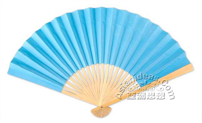 9 Inch Turquoise Paper Fans $1 each | Asian Theme Birthday ...