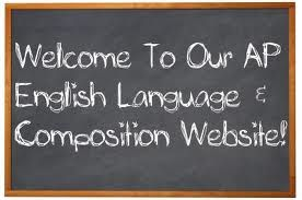 Great teacher created website for AP English Language and Composition.