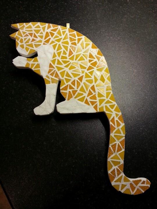 Mosaic ginger cat