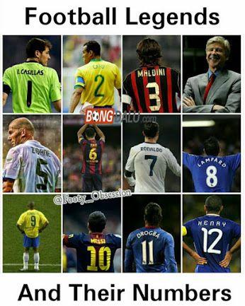 Huyền thoại và số áo của họ, bạn thích ai ?