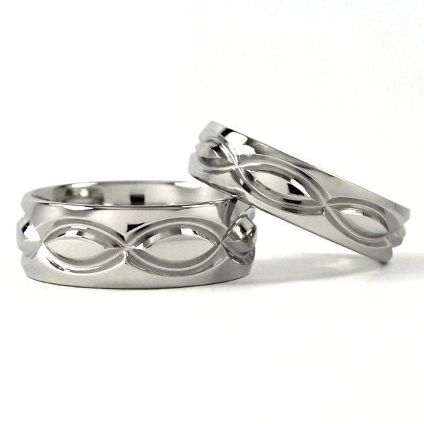 matching wedding bands | Cobalt Infinity His and Hers Set Titanium ...