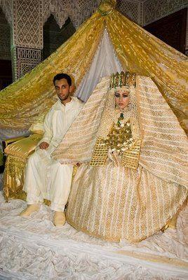 pics of moroccan desert wedding brides dresses