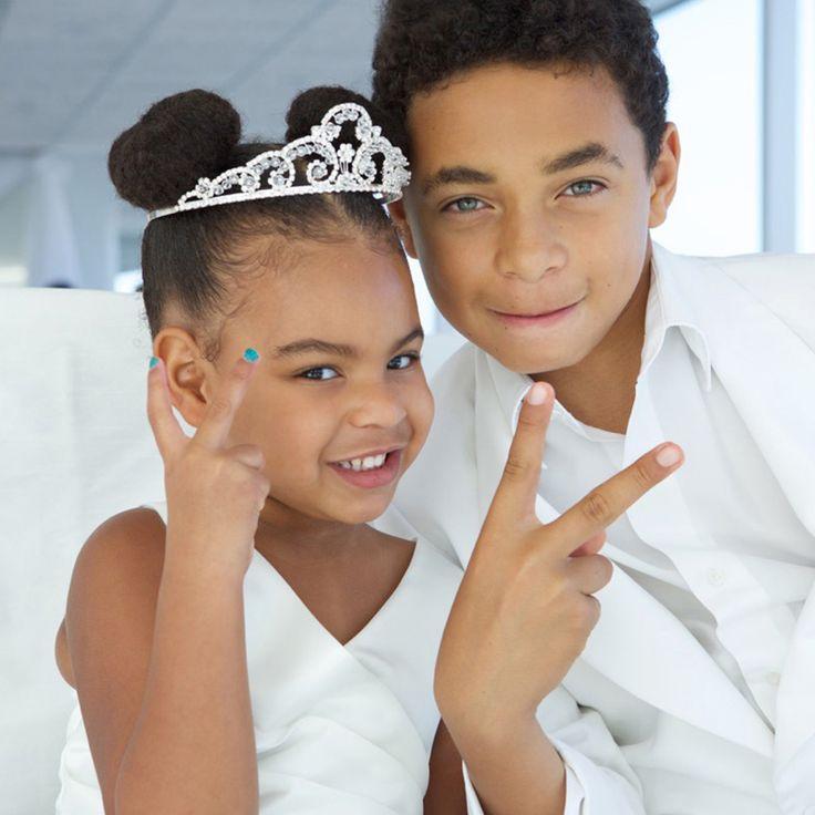 Blue Ivy & Julez On Nanna Tina's Wedding Day To Richard Lawson 12.04.2015