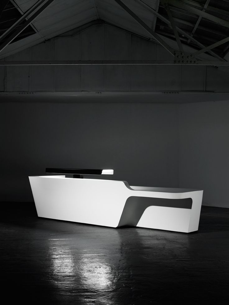 Modular Solid Surface® Reception Desk MONO Configuration 3 By Isomi Design  Paul Crofts