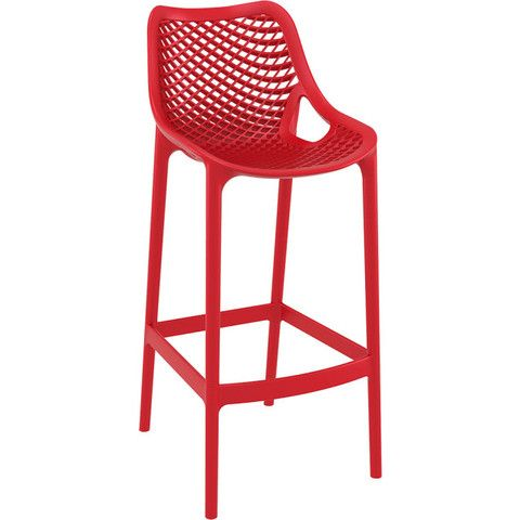 INJECTION MOULD OUTDOOR BAR STOOL - RED