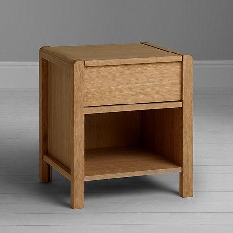 Buy John Lewis Montana 1 Drawer Bedside Cabinet, Oak Online at johnlewis.com