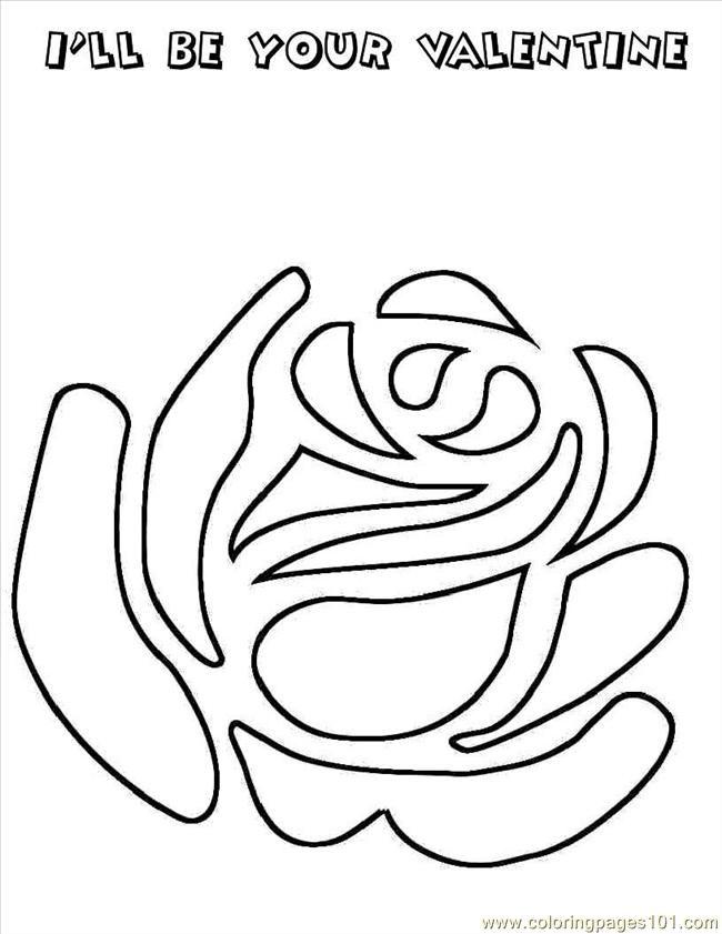 free printable coloring image Rose4