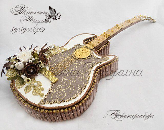 Гитара из конфет. Мастер-класс | Домохозяйка