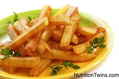Healthy Crispy Parmesan Fries | 3/4 cup is less than 100 calories and heavenly! www.NutritionTwins.com