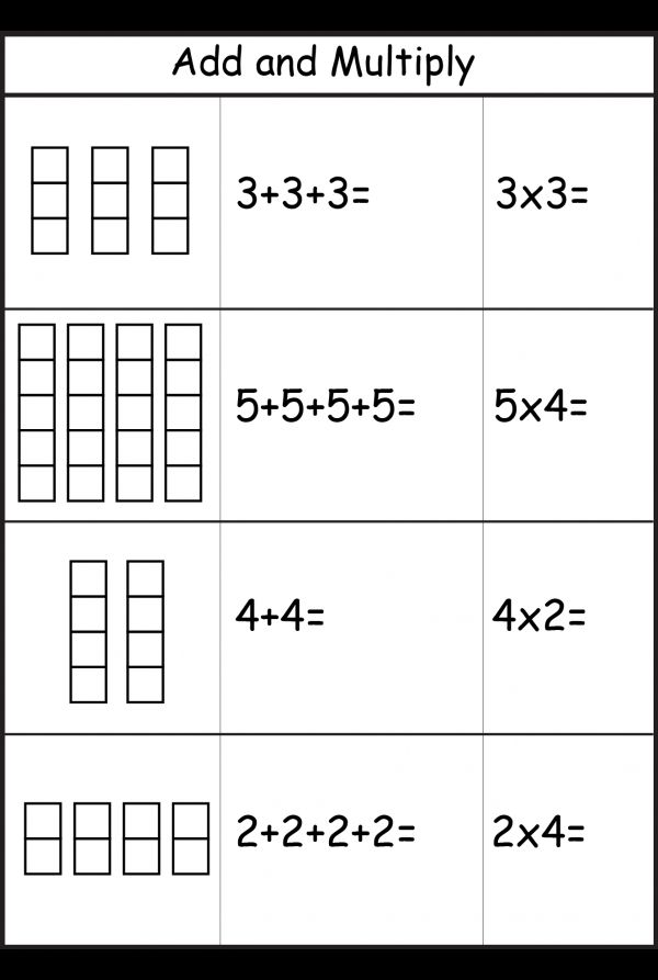 Repeated Addition Worksheets Repeated Addition Worksheets Teaching Multiplication Multiplication