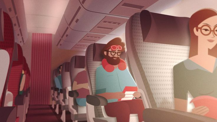 Truely great work again for Virgin Atlantic's flight safety video.  Love the photographic/filmic treatment of flat-ish illustrations, put into motion/3d -dimensions.