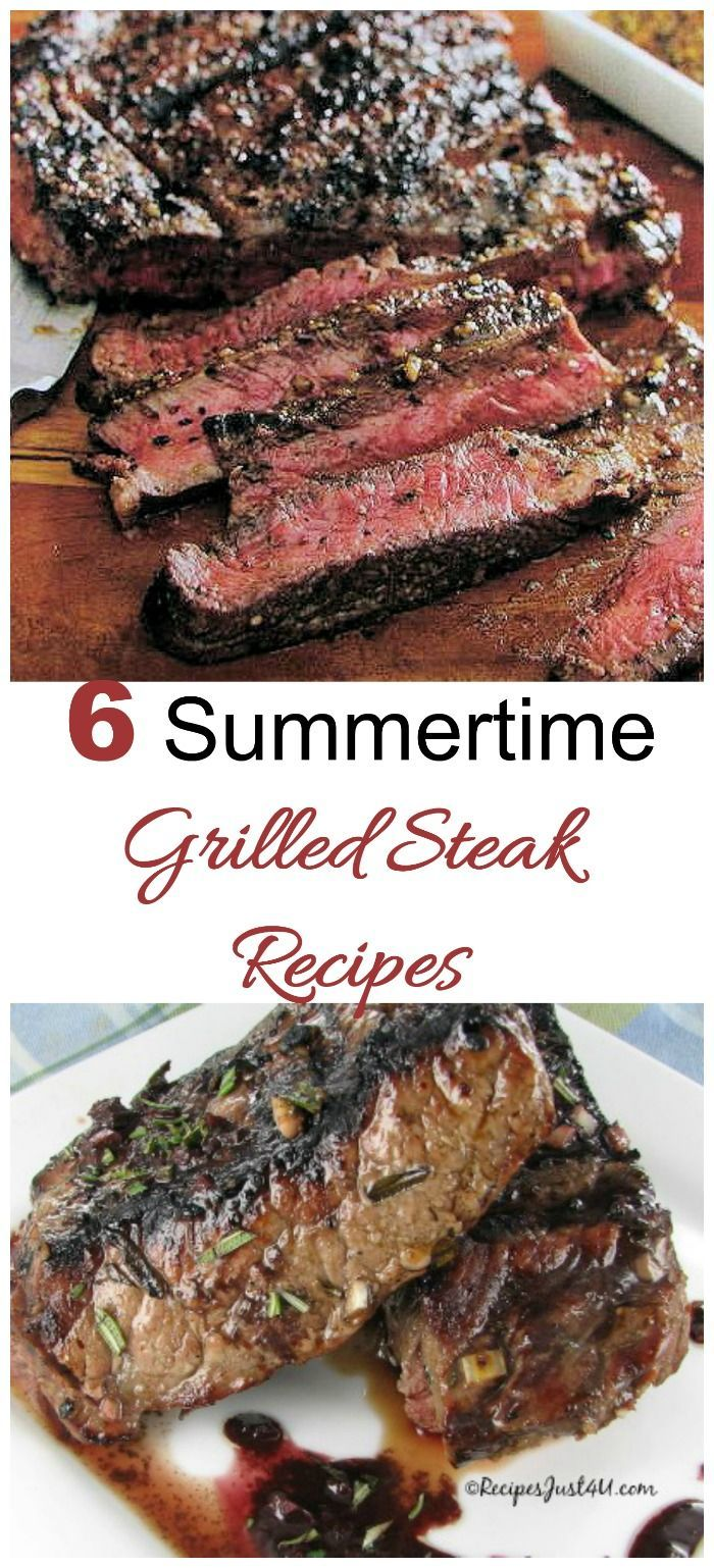 These size summertime steak grilling recipes will get your BBQ off to a great start. Also find out how to grill steaks perfectly to any degree of doneness!