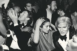 fancy meeting you here 2: Halston, Bianca Jagger, Jack Haley Jr, wife Liza Minnelli, Andy Warhol