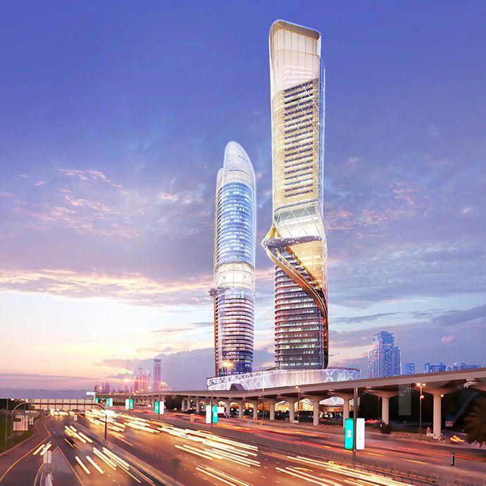 В Дубае построят еще два небоскреба: 55 этажей, тропические сады, 280 элитных квартир - Недвижимость onliner.by