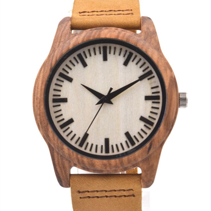 >> Click to Buy << 2016 New Arrival Zebra Wood Watch For Mens Gifts With Genuine Leather Straps Japenese  MIYOTA 2035 Movement Luxury Box   #Affiliate
