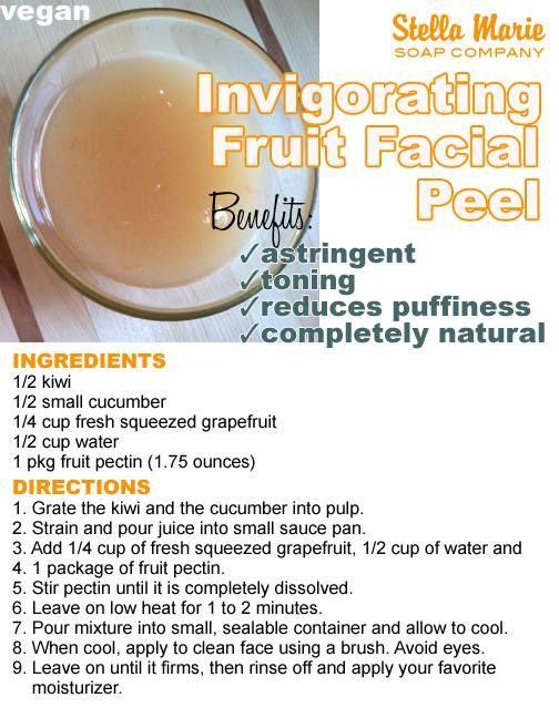Invigorating Fruit Facial Peel