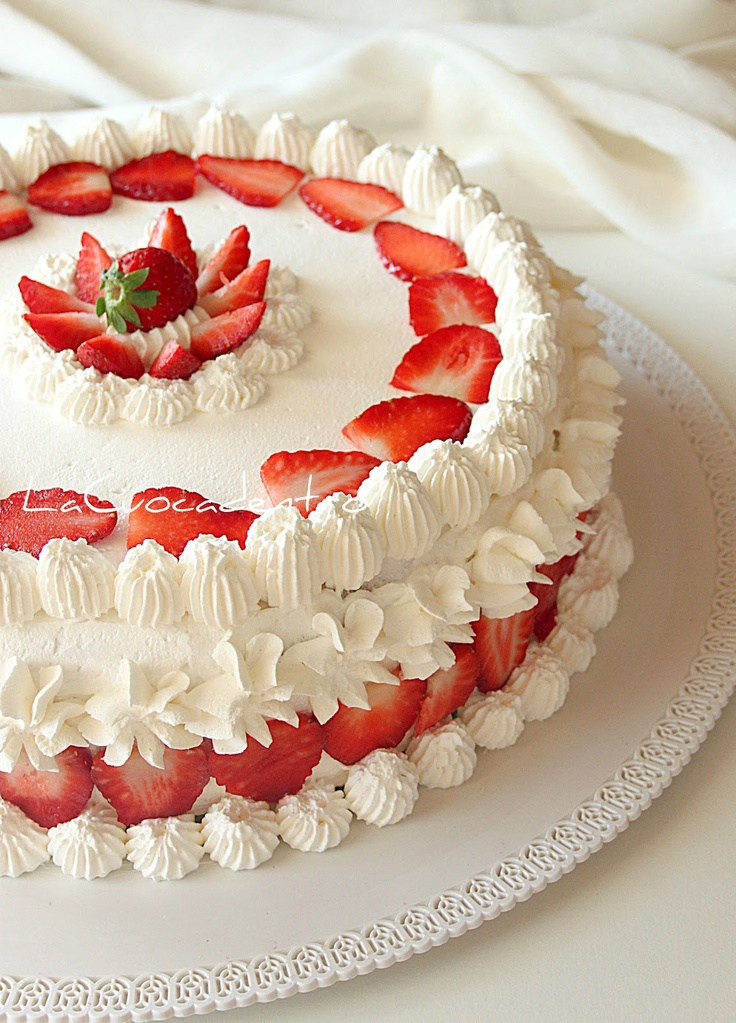 Torta Sospiro alle fragole - strawberry cake (italian)