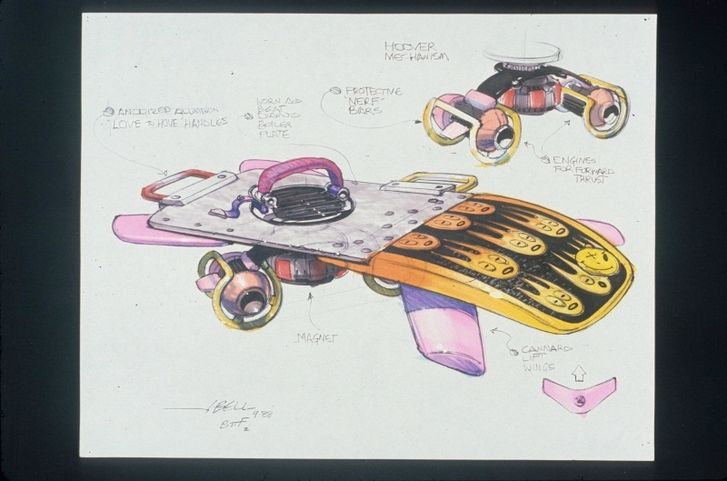 Back To The Future II concept drawings - photo 5