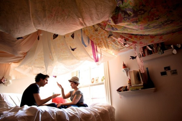 draping ceiling fabric | sewing room/my room | pinterest