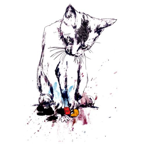 Cat's Prey is a T Shirt designed by Lopesco to illustrate your life and is available at Design By Humans