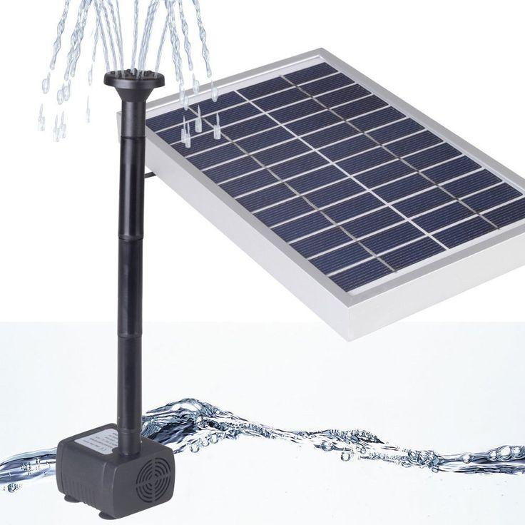 Les 25 meilleures id es concernant pompe bassin solaire for Pompe solaire fontaine