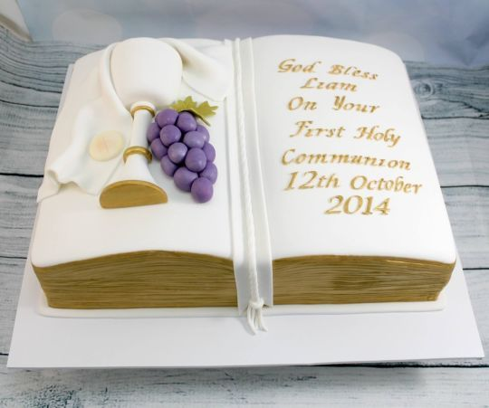 Holy Communion bible cake