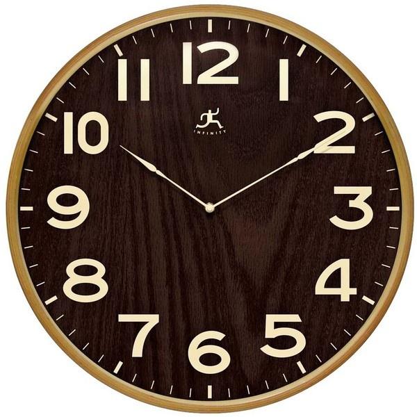 Arbor Ii 21 Round Dark Wood Wall Clock W0992 93