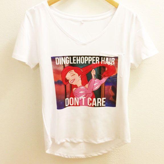 Ariel Disney Shirt- Dinglehopper Hair - The Little Mermaid - Polyester Thin Shirt  Women - Disney Tumblr S, M, L, XL, XXL by WolfFawn on Etsy https://www.etsy.com/listing/260521079/ariel-disney-shirt-dinglehopper-hair-the