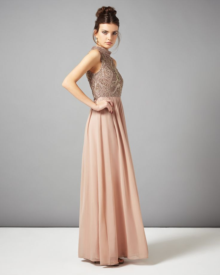 Black Tie Wedding Gowns: Pink Mariella Embellished Full Length