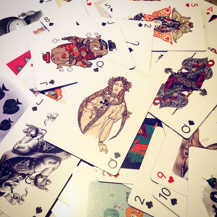 Колода карт от illustrators.ru Дама треф от azazElla design.