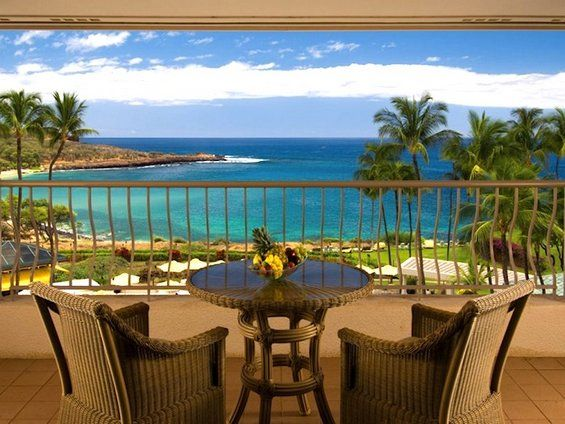 15 HOTEL BALCONIES with BREATHTAKING VIEW - Four Seasons Resort in Hawaii.  One of my favorite places on earth!