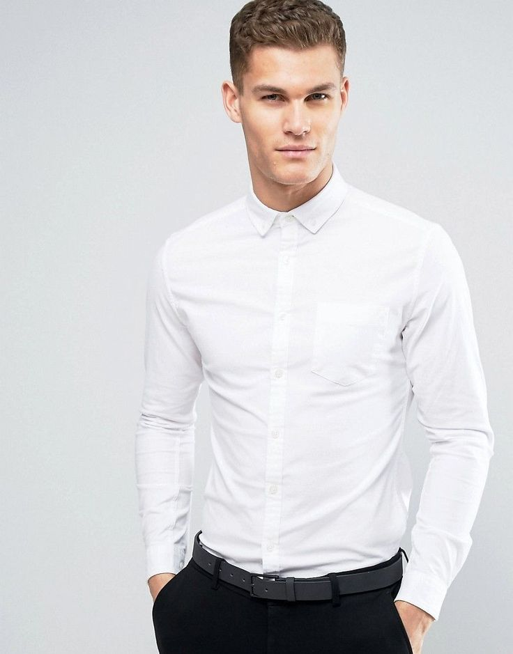 Get this Asos's basic shirt now! Click for more details. Worldwide shipping. ASOS Super Skinny Casual Oxford Shirt In White - White: Oxford shirt by ASOS, Lightweight woven fabric, Button-down collar, Chest pocket, Button placket, Super skinny fit - cut closest to the body, Machine wash, 96% Cotton, 4% Elastane, Our model wears a size Medium and is 193cm/6'4 tall. ASOS menswear shuts down the new season with the latest trends and the coolest products, designed in London and sold across the…