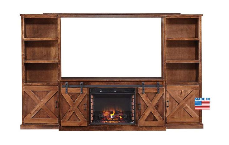 Farmhouse 4 piece fireplace entertainment center