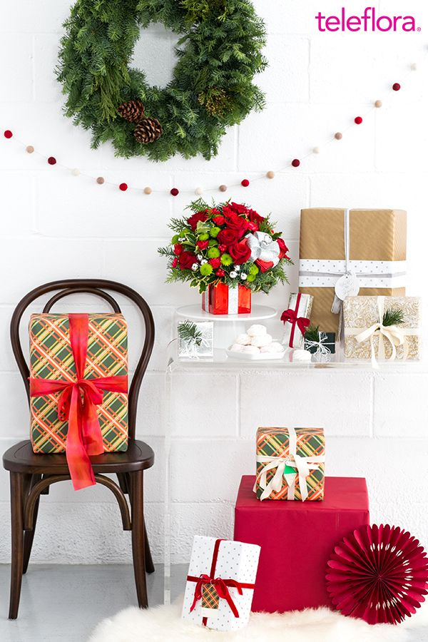 The Perfect Christmas Gift For Her Part - 43: Gift Wrapped To Perfection! A Festive Flower Arrangement Makes A Perfect  Christmas Gift For Teachers