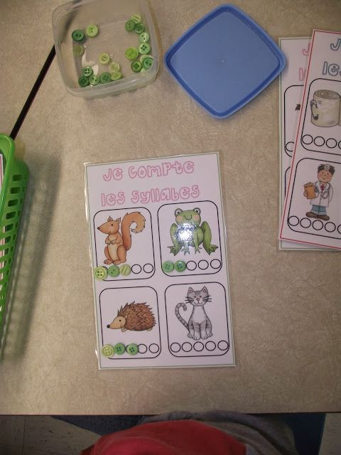 Atelier individuel : compter les syllabes