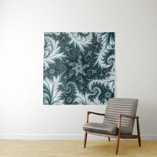 Cyan and white fractal pattern. tapestry #tapestry #homedecor #abstract, #fractal, #illustration, #frost, #pattern, #flowers, #blue, #cyan, #green, dark, bright, colorful, #aquamarine, #lace, #tapestry, #customized #personalized #POD #graphics #artwork #buy #sale #giftideas #zazzle #discount #deals #gifts #shopping #mostpopular #trendy #cool #best #unique #stylish #gorgeous