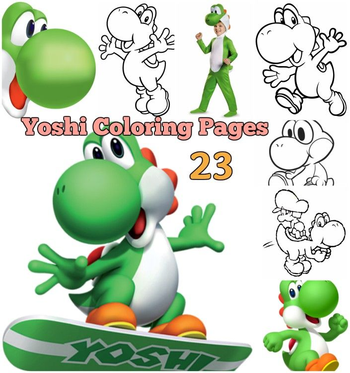 Printable Yoshi Coloring Page For Kids Face Costume